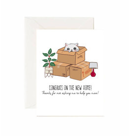 Jaybee Designs Congrats On The New Home (Cats in Boxes) - Card