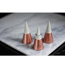 Mind The Minimal Concrete Ring Cone - Rose Gold