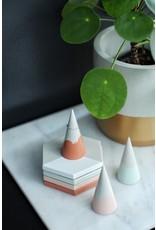 Mind The Minimal Concrete Ring Cone - Terracotta