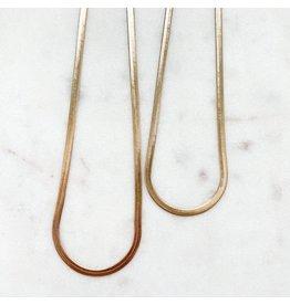 "Jewelry By Amanda 17.5"" Hannah Herringbone Necklace"
