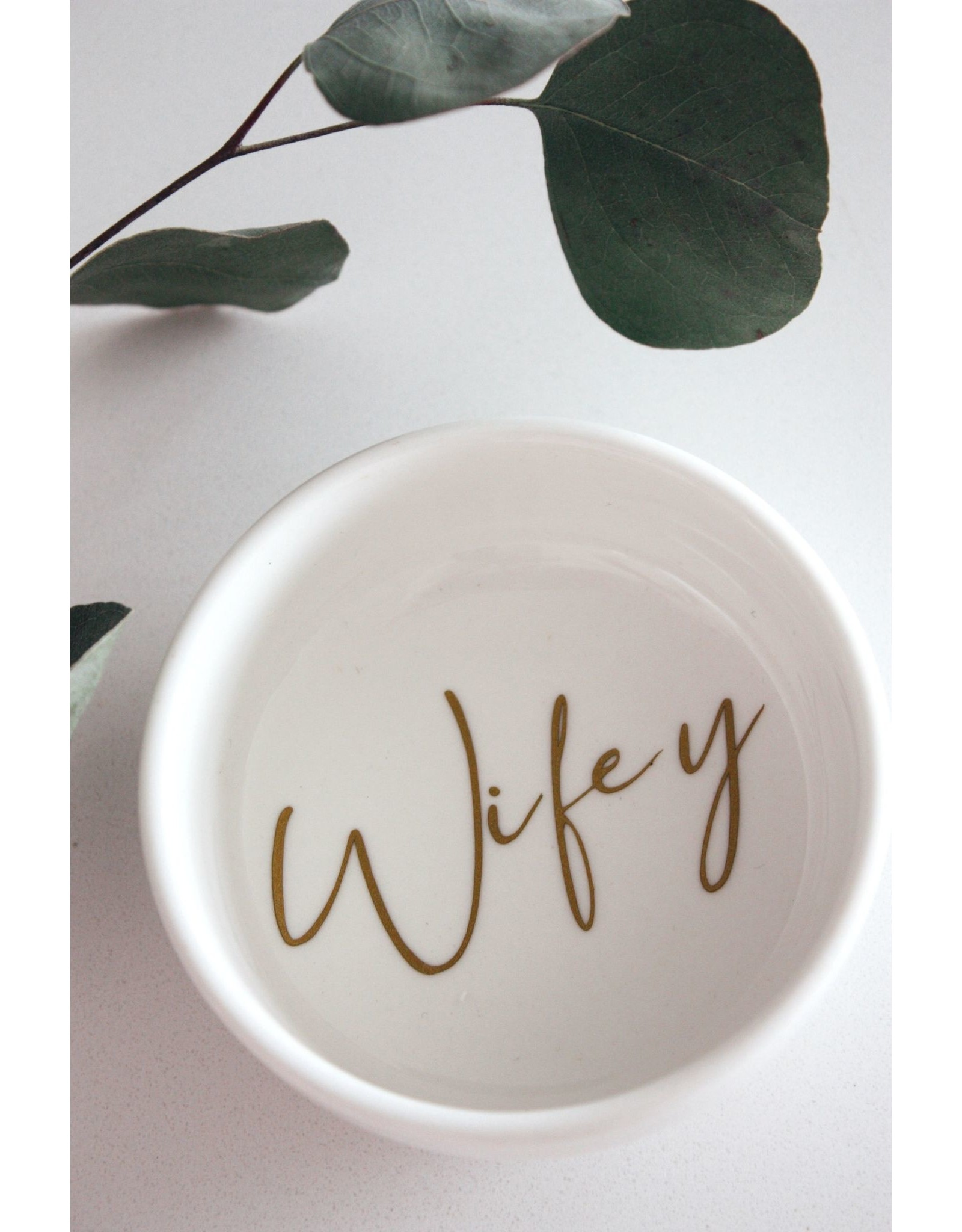 Made by Madeleine Ring Dish- Wifey Gold