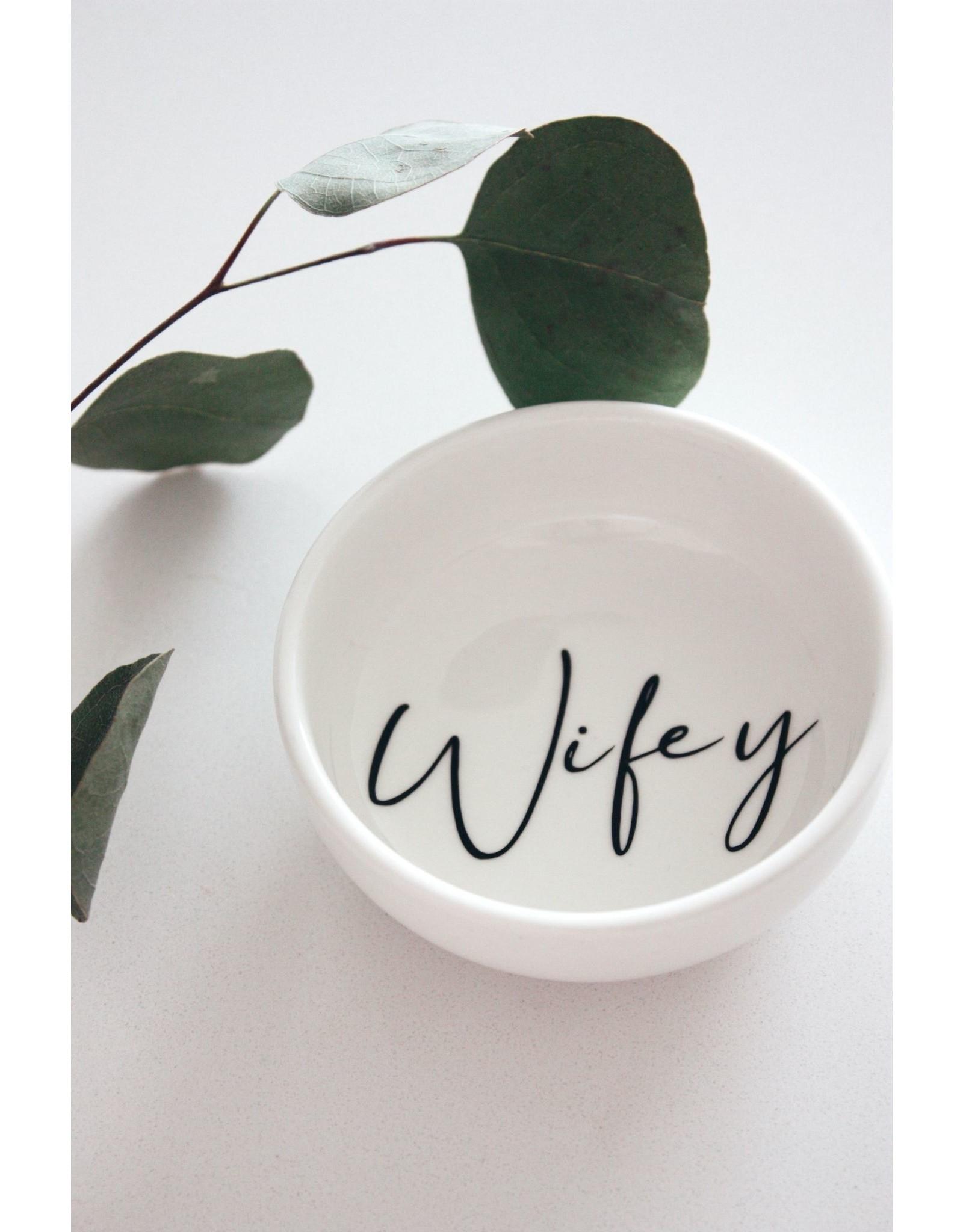 Made by Madeleine Ring Dish- Wifey Black