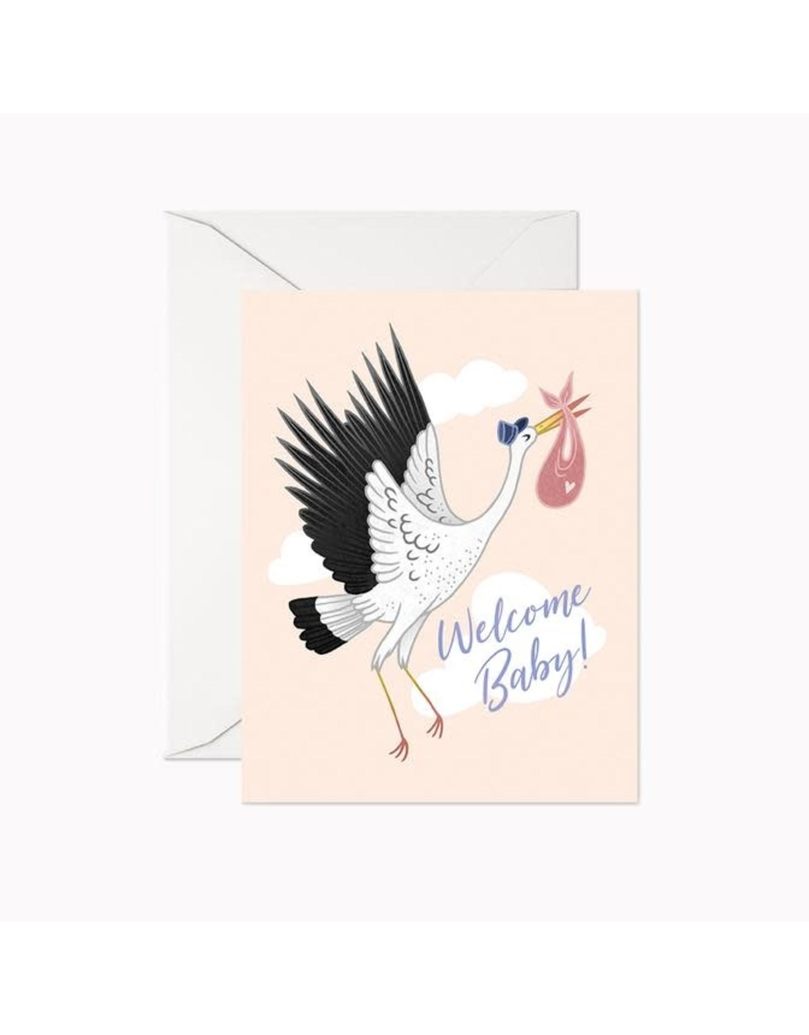 Linden Paper Co. Welcome Baby Stork