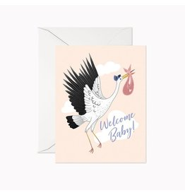 Linden Paper Co. Welcome Baby Stork