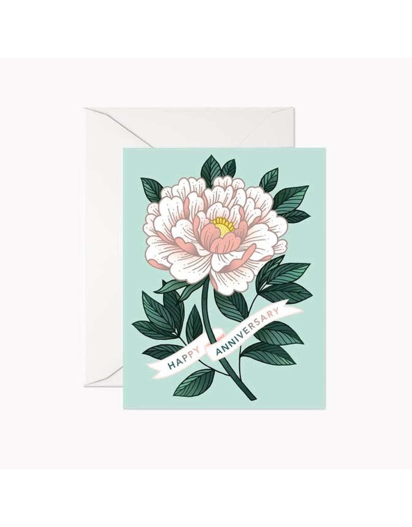 Linden Paper Co. Happy Anniversary Peony Card