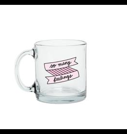 Talking Out of Turn Glass Mug | So Many Feelings