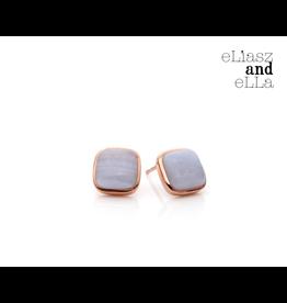 "eLiasz and eLLa Blue Lace ""Avoir"" Stud Earrings"