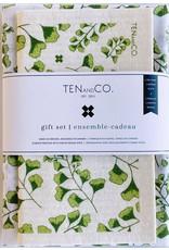 Ten & Co Fern - Sponge Cloth & Tea Towel Gift Set