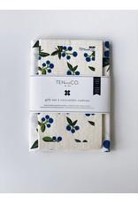 Ten & Co Blueberry - Sponge Cloth & Tea Towel Gift Set