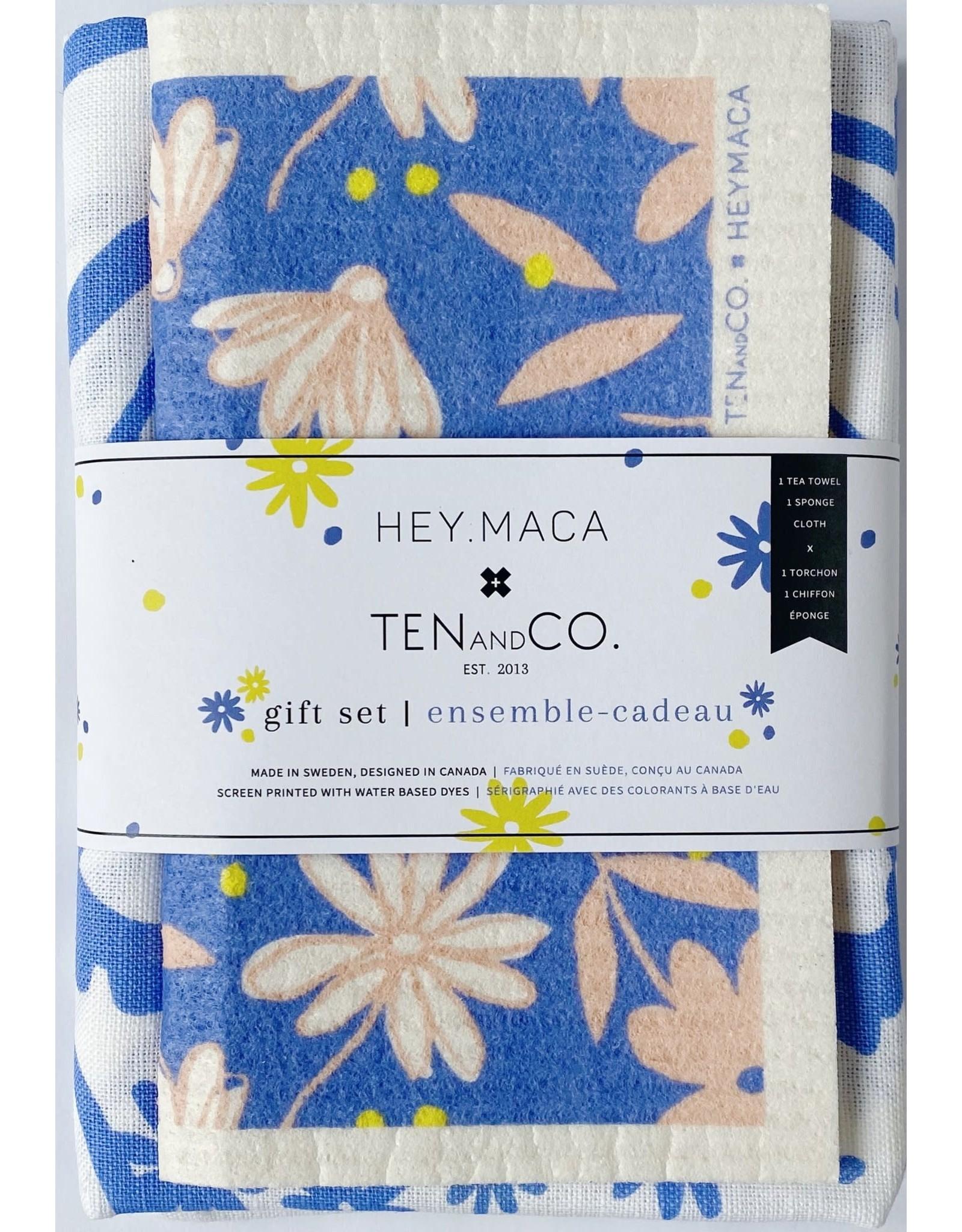 Ten & Co Hey Maca x Ten and Co. - Sponge Cloth & Tea Towel Gift Set