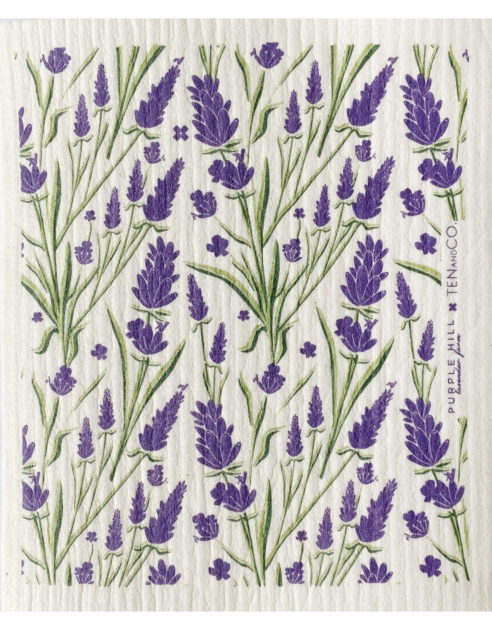 Ten & Co Lavender Sponge Cloth