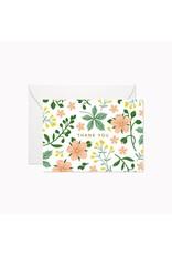 Linden Paper Co. Wild Garden Thank You   Mini Card