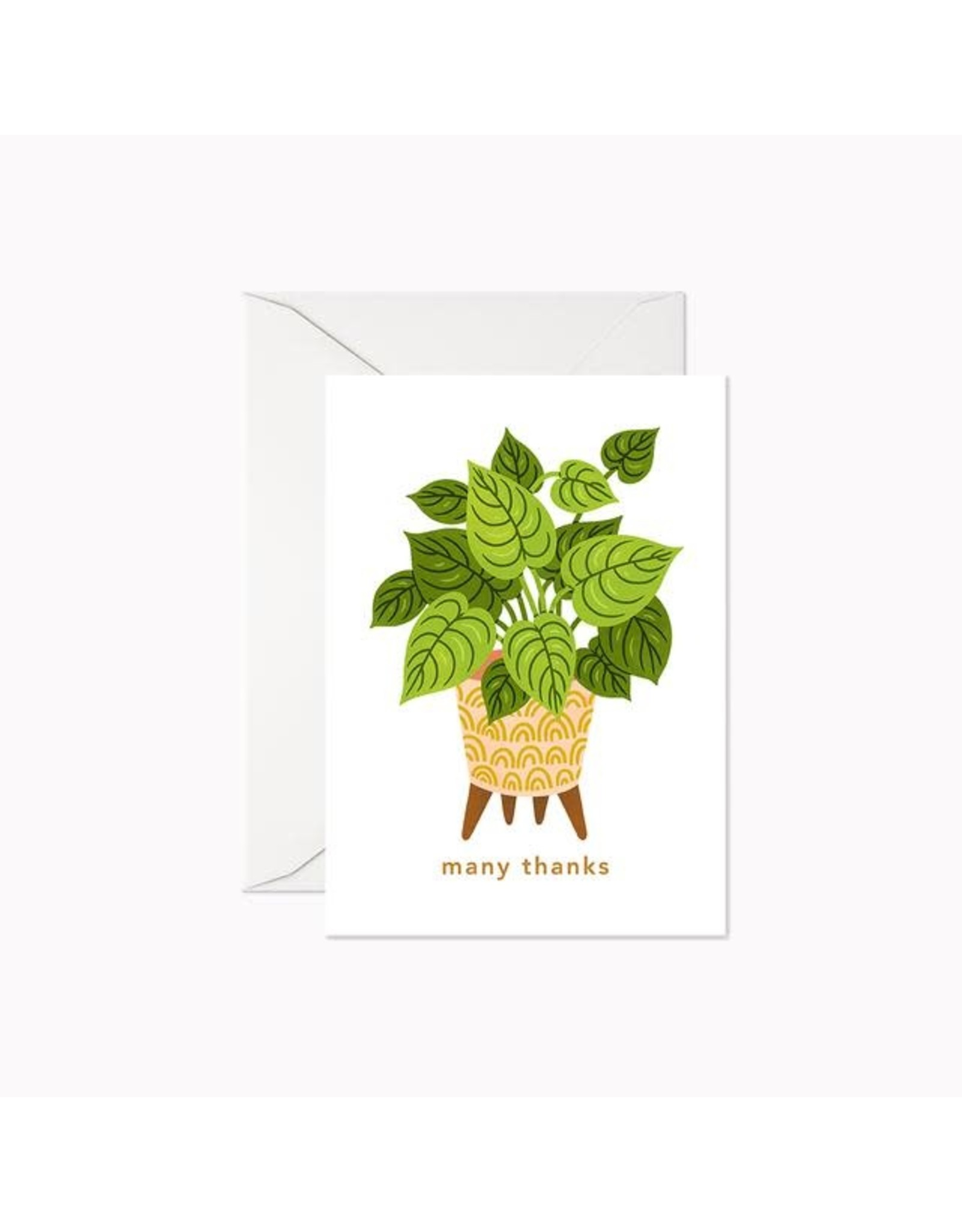 Linden Paper Co. Many Thanks Houseplant | Mini Card