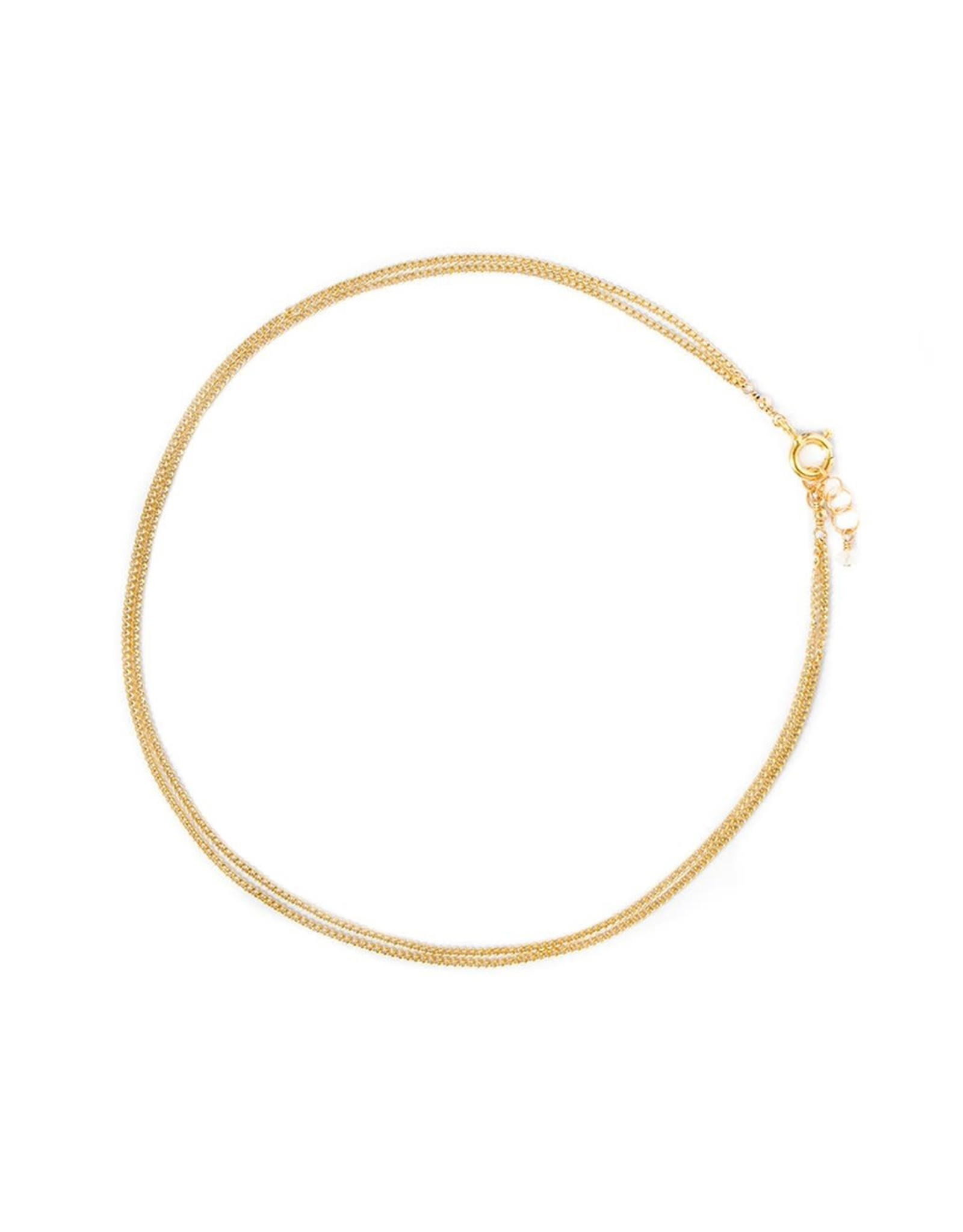 leah alexandra Layered Curb Anklet | Goldfill