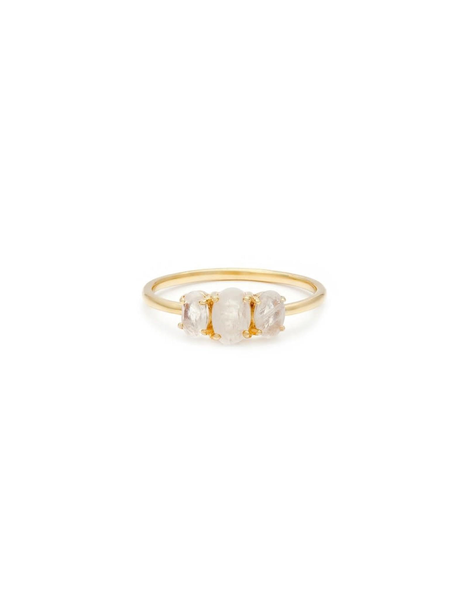 leah alexandra Bijou Ring | Moonstone