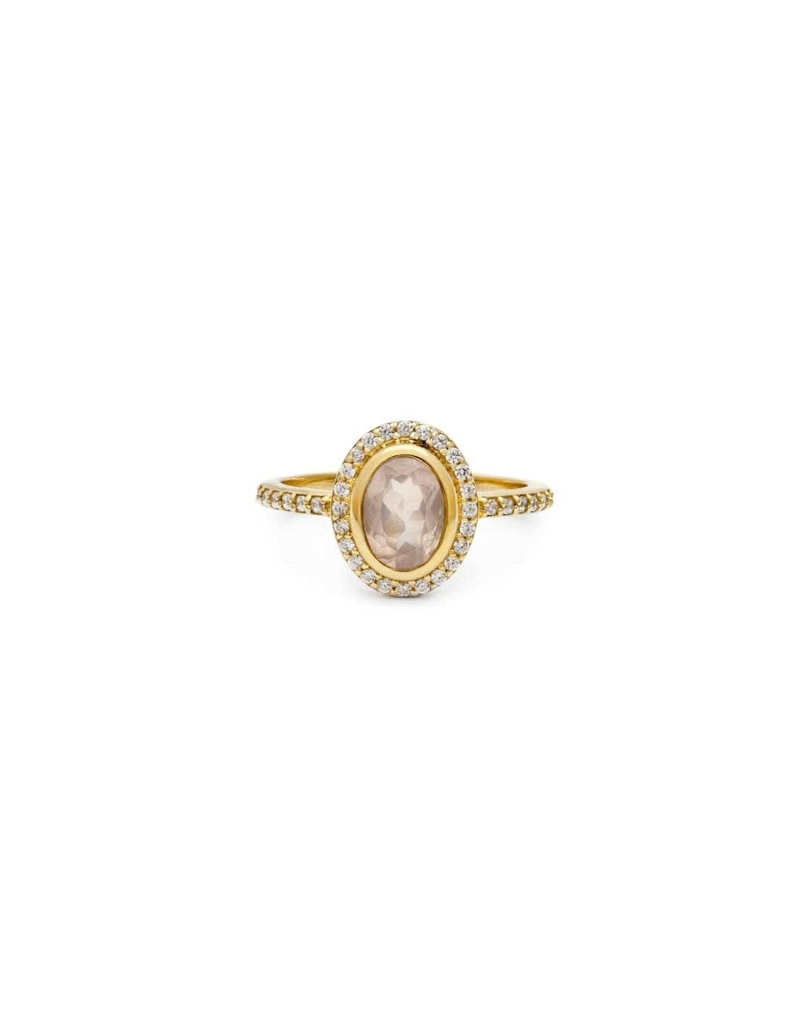 leah alexandra Cameo Ring   Rose Quartz