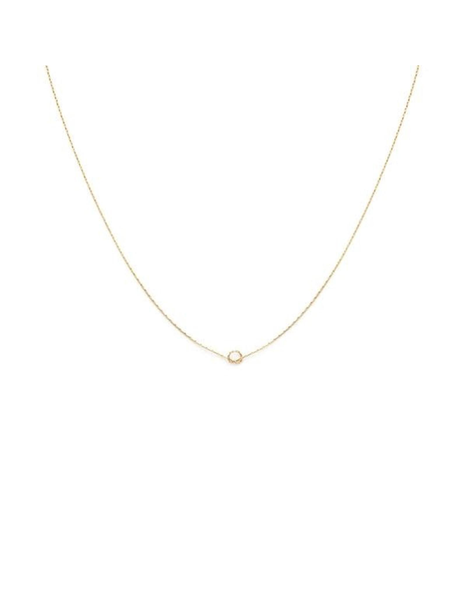 leah alexandra Knot Necklace   Goldfill