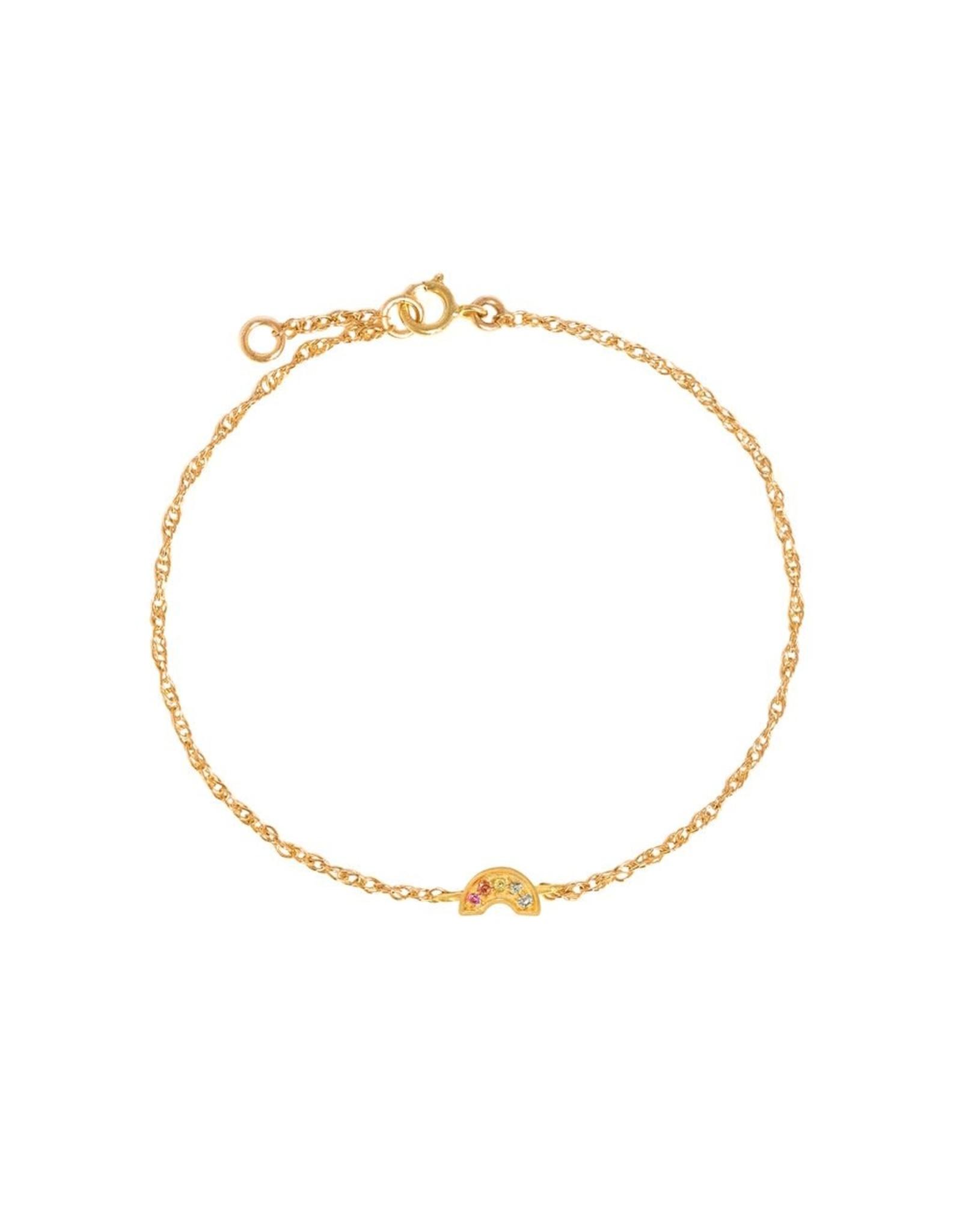 leah alexandra Rainbow Pave Bracelet   Multi Sapphire
