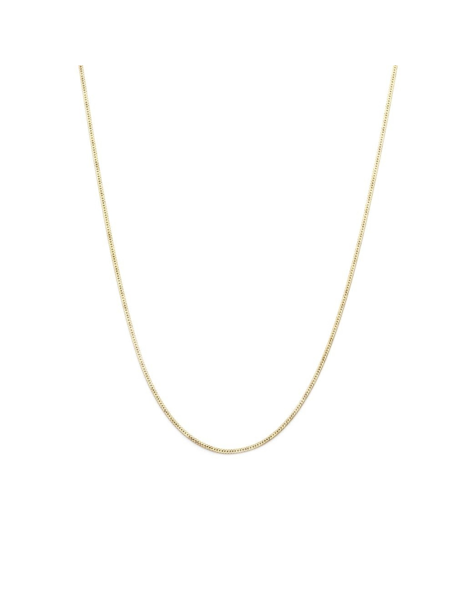 leah alexandra Herringbone Chain Necklace   Goldfill