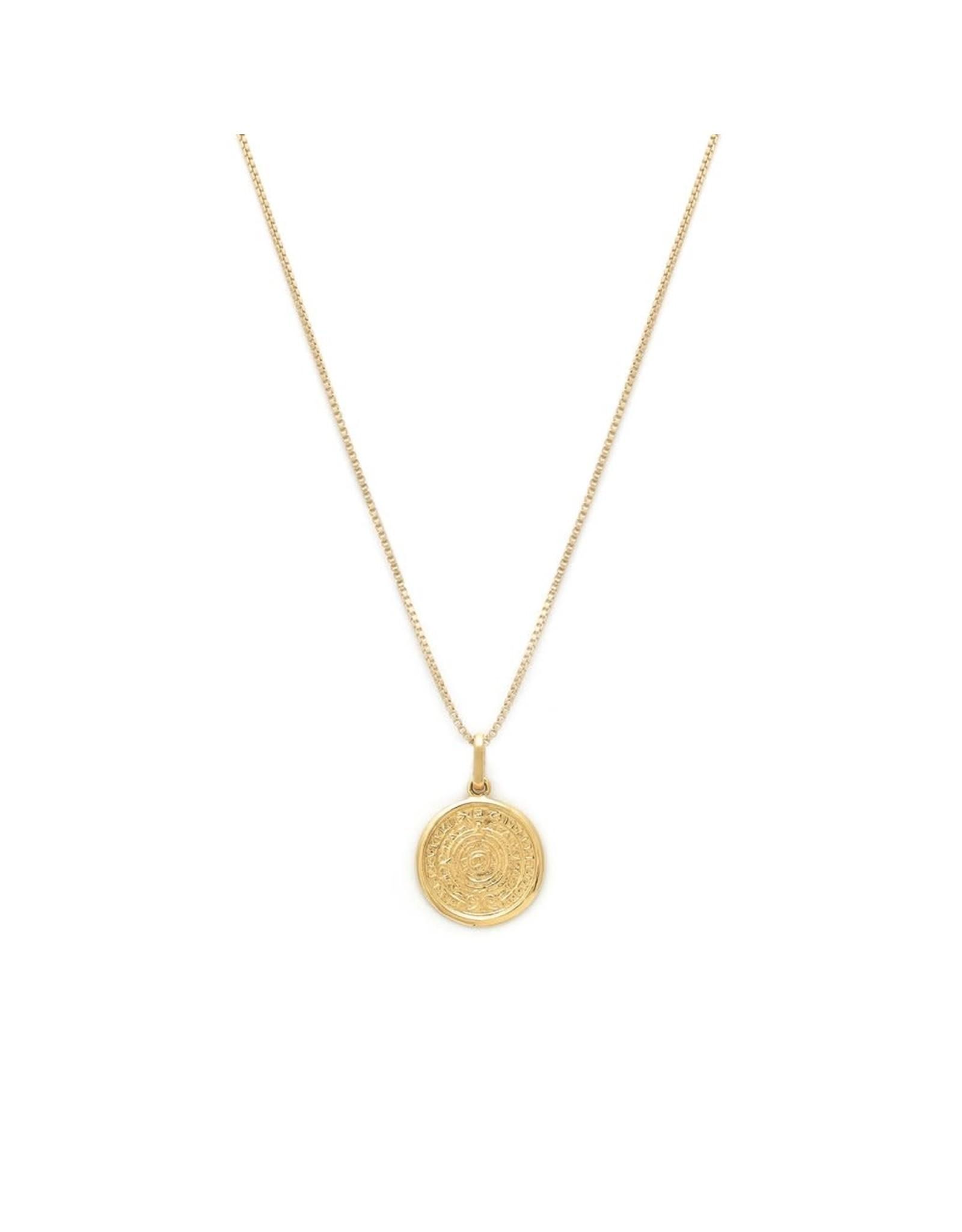 leah alexandra Mayan Necklace   Gold