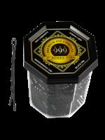 """999 Premium Pin Company 999 Bobby Pins 2"""" Black Tub 250g"""