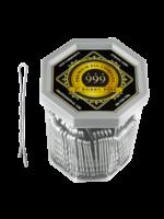 "999 Premium Pin Company 999 Bobby Pins 2"" Silver Tub 250g"