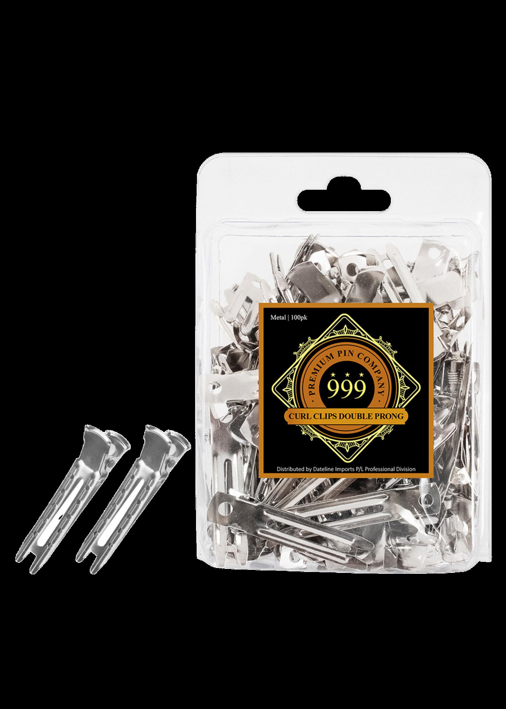 999 Premium Pin Company 999 Curl Clips Double Prong Metal 100pk