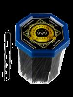 """999 Premium Pin Company 999 Ripple Pins 3"""" Black Tub 250g"""