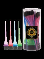 999 Premium Pin Company 999 Tint Brushes Small Coloured Tub 36pcs