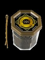 "999 Premium Pin Company 999 Bobby Pins 2"" Bronze Tub 250g"