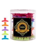 999 Premium Pin Company 999 Butterfly Clamps Large Coloured Tub 36pcs