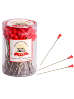 999 Premium Pin Company 999 Roller Pins Metal Red Tub 100pcs
