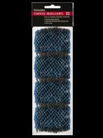 Dateline Swiss Rollers 42mm Blue 4pk