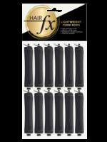 Hair FX Hair FX Lightweight Perm Rods 16mm Black 12pk