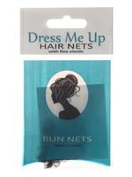 Dress Me Up Dress Me Up Bun Net Dark Brown 2pk