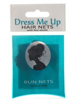 Dress Me Up Dress Me Up Bun Net Black 2pk