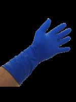 Bastion Bastion Latex High Risk Long Cuff Blue Powder Free Gloves - Large - Box 50pcs