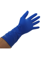 Bastion Bastion Latex High Risk Long Cuff Blue Powder Free Gloves - Large - Pair