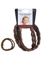 Mia Mia Thick Braided Headband Light Brown