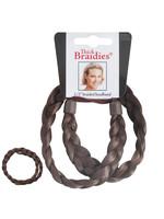 Mia Mia Thick Braided Headband Med Brown
