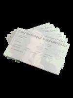 Dateline Dateline Salon Service & Record Card 100pk