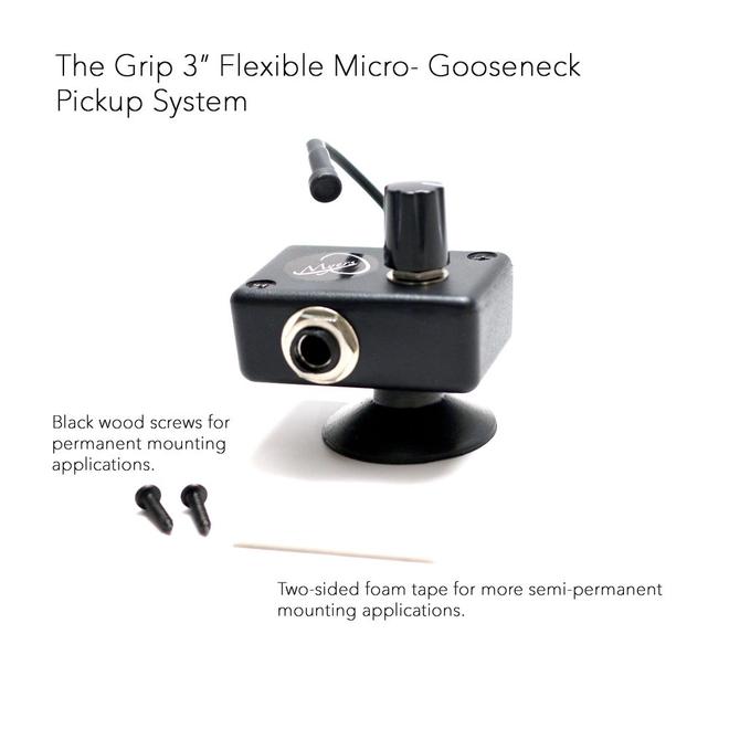 "Myers - The Grip Series, 3"" Micro Gooseneck, w/suction grip"
