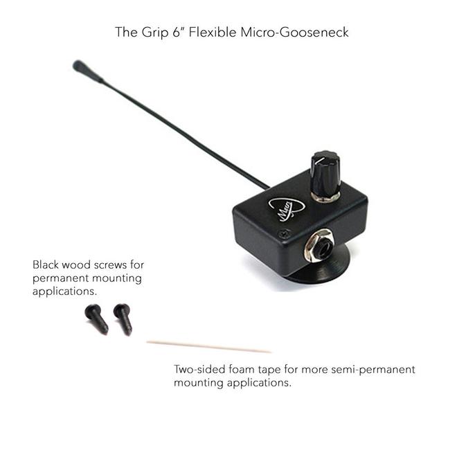 "Myers - The Grip Series, 6"" Micro Gooseneck, w/suction grip"