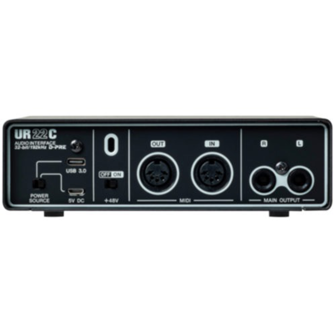 Steinberg - UR22C 2 Channel USB 3.0 Recording Interface w/phantom power, D-PRE preamps (Cubase AI & LE iOS)