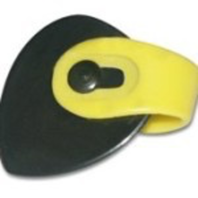Fred Kelly - Bumblebee Teardrop Thumbpicks (3), Medium