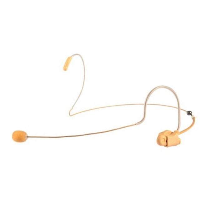"Apex - Universal ""Invisible"" Low Profile Headset Mic, Tan"