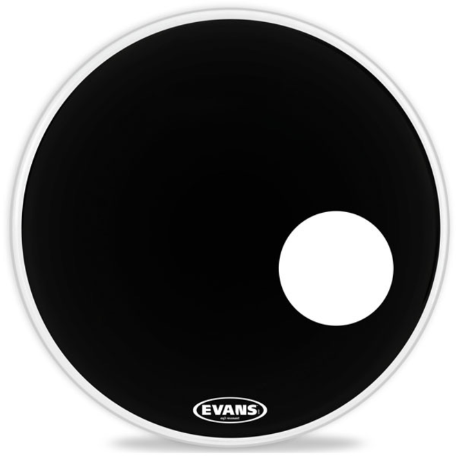 "Evans - 22"" Black EQ3 Resonant"