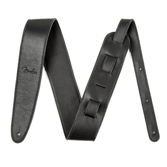 "Fender - 2.5"" Artisan Crafted Leather Strap, Black"