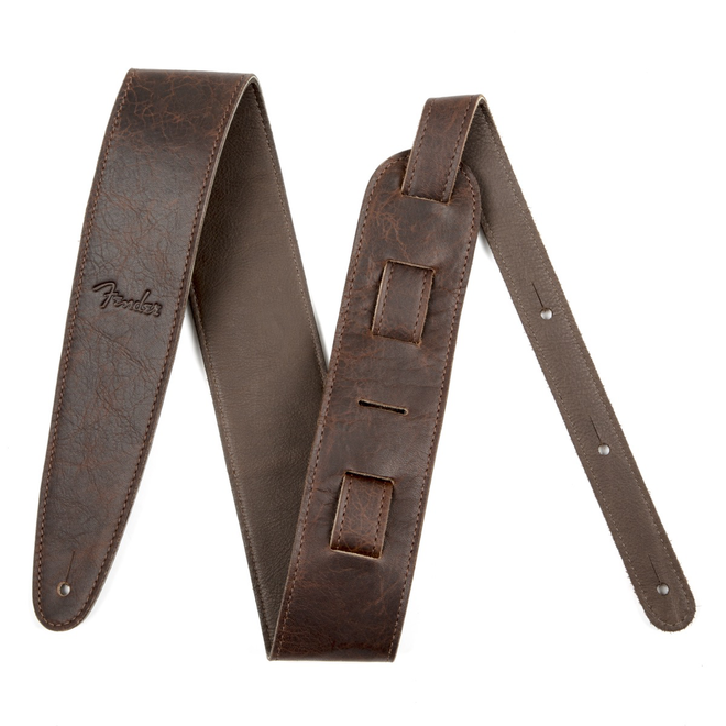 """Fender - 2.5"""" Artisan Crafted Leather Strap, Brown"""