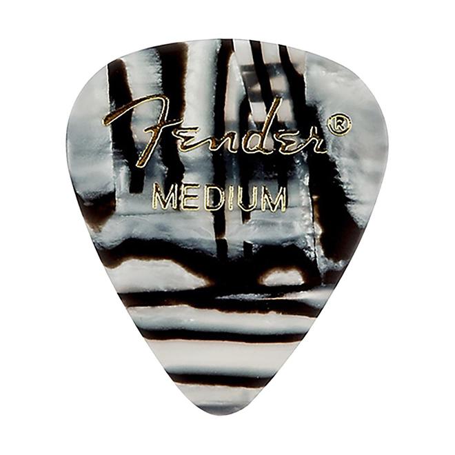 Fender - 351 Graphic Picks, Zebra Medium, 12 Pack